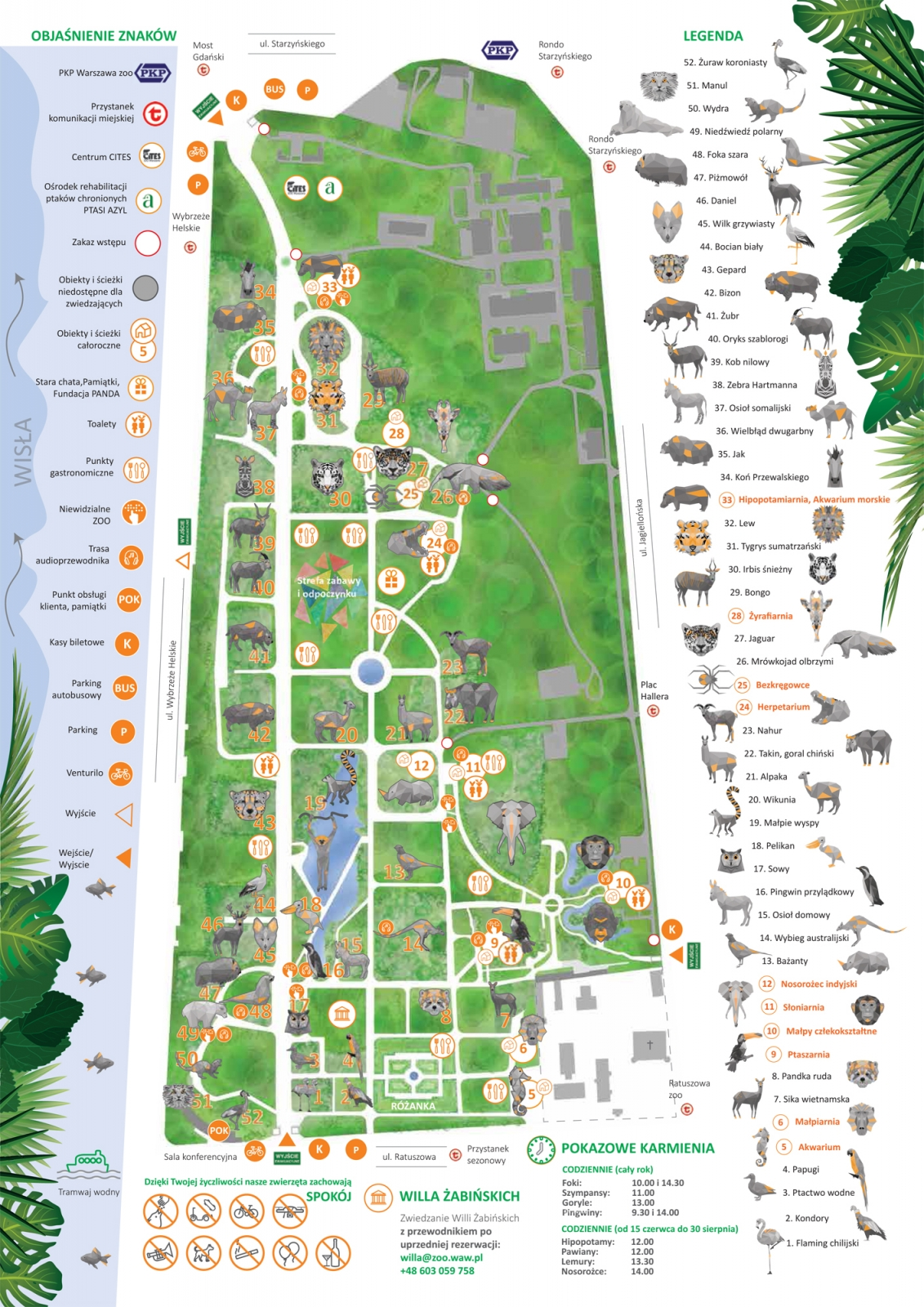 mapa zoo Mapa ZOO   Wizyta w Zoo   Zoo Warszawa mapa zoo